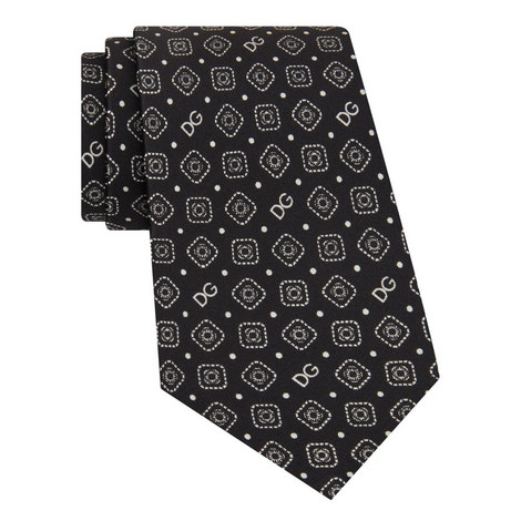 Silk Patterned Tie, ${color}