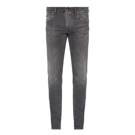 Stretch Distress Jeans , ${color}