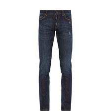 Destroyed Slim Jeans