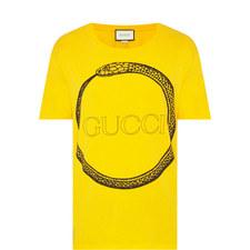 Uroboro Snake Print T-Shirt