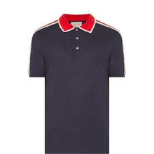 Brand Stripe Polo Shirt
