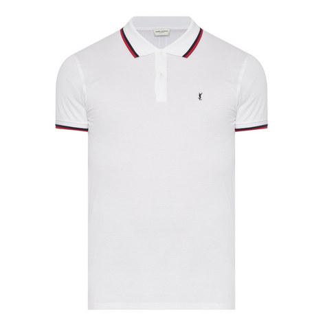 Stripe Tipped Piqué Polo Shirt, ${color}