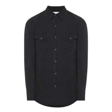 Washed Denim Shirt, ${color}