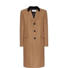 Velvet Lapel Overcoat