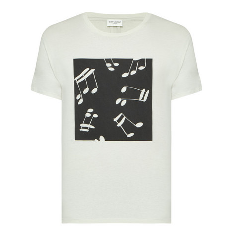 Note Graphic Print T-shirt, ${color}