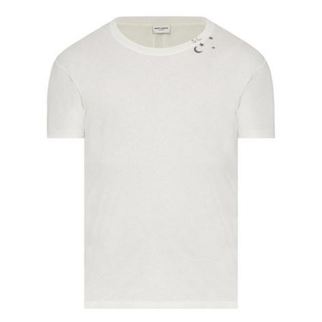 Star Moon Crew Neck T-Shirt, ${color}