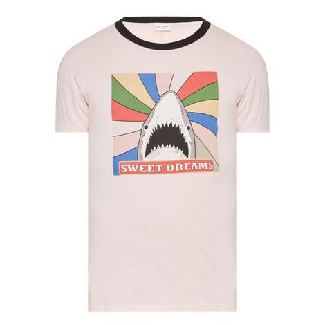 Shark Graphic Print T-Shirt, ${color}