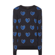 Heart Mohair Knitted Sweater