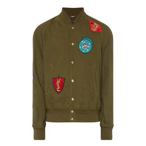 Patch Detail Bomber Jacket, ${color}