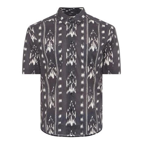 Ikat Print Shirt, ${color}