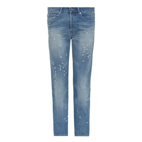 Distressed Slim Fit Jeans, ${color}