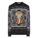 Cuban Fit Cobra Print Sweater, ${color}