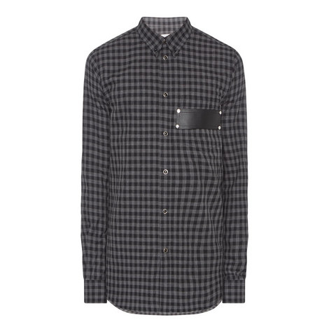 Leather Pocket Check Shirt, ${color}