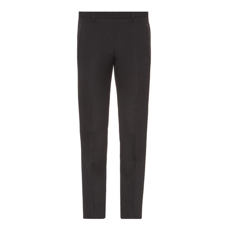 Satin Trim Trousers, ${color}