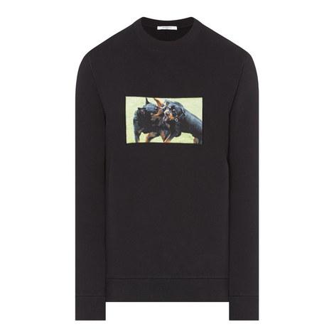 Rottweiler Crew Neck Sweatshirt, ${color}