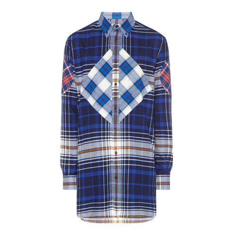 Contrast Check Relaxed Fit Shirt, ${color}