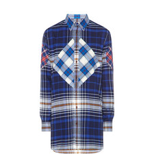 Contrast Check Relaxed Fit Shirt