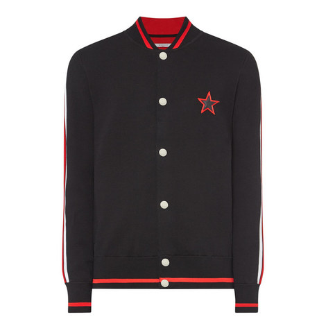Star Knitted Bomber Jacket, ${color}