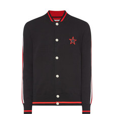 Star Knitted Bomber Jacket