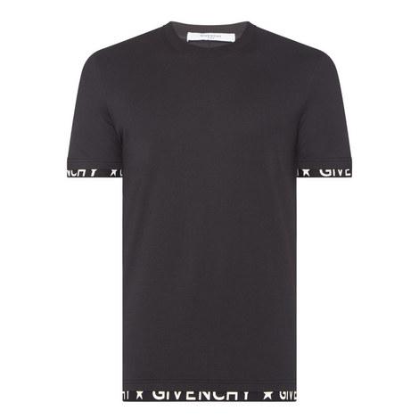 Printed Hem Crew Neck T-Shirt, ${color}