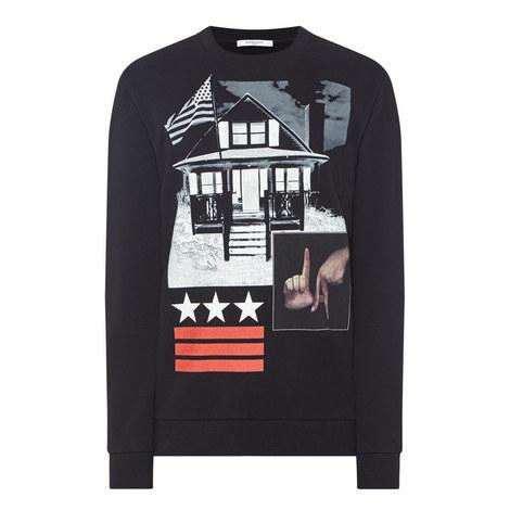 LA House Print Sweatshirt, ${color}