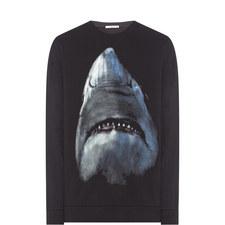 Shark Print Sweatshirt