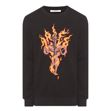 Dagger Flame Sweatshirt, ${color}