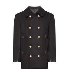 Logo Button Pea Coat