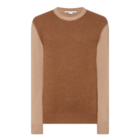 Contrast Sleeve Sweater, ${color}