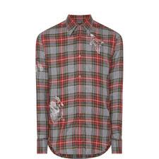 Embroidered Check Shirt