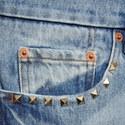 Slim Fit Stud Detail Jeans, ${color}