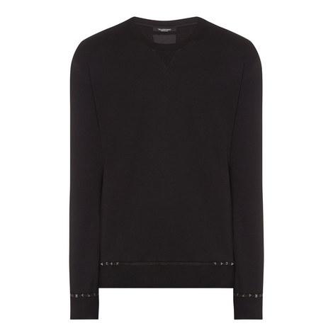 Pyramid Stud Sweatshirt, ${color}