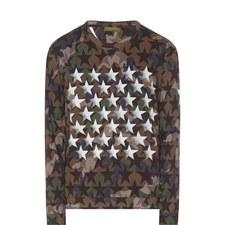 Camouflage Star Print Sweatshirt