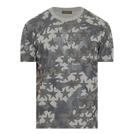 Camouflage Star Print T-Shirt, ${color}
