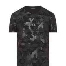 Camouflage Star Print T-Shirt