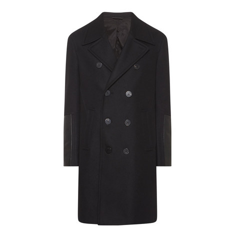 Leather Sleeve Overcoat, ${color}