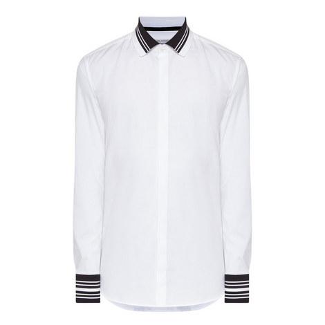 Stripe Trim Shirt, ${color}