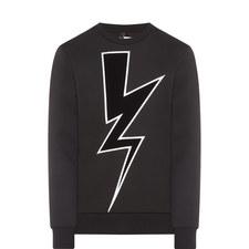 Large Thunderbolt Crew Neck Sweater