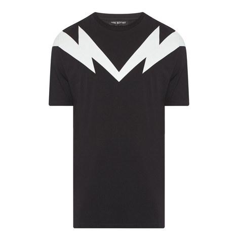 Lightning Shoulder Print T-Shirt, ${color}