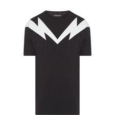 Lightning Shoulder Print T-Shirt