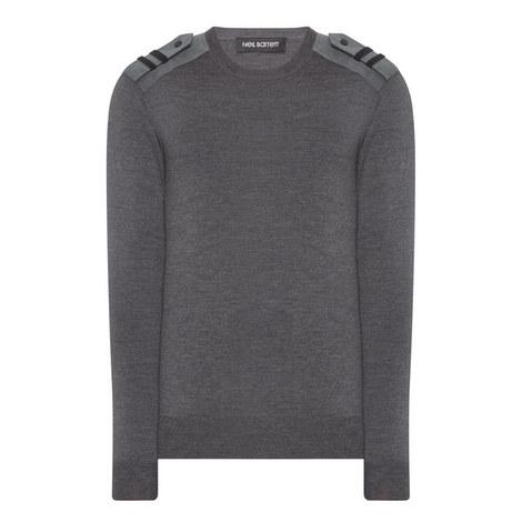 Military Shoulder Sweater, ${color}