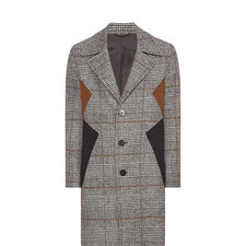 Check Wool Overcoat