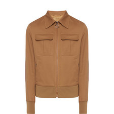 Suede Elbow Bomber Jacket