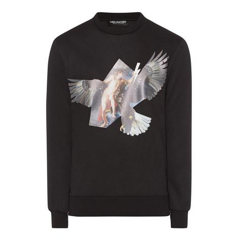 Eagle Print Zip Sweater, ${color}