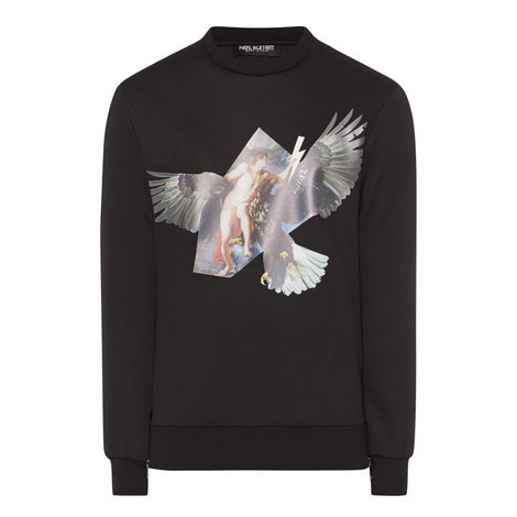 Eagle Print Zip Sweater, ${color}