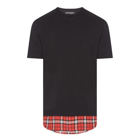 Check Hem T-Shirt, ${color}