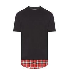 Check Hem T-Shirt