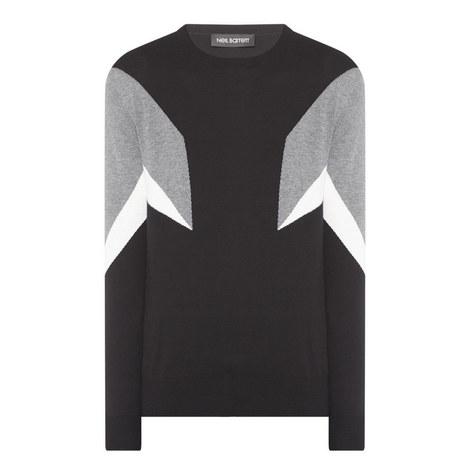 Geometric Colour-Block Sweater, ${color}