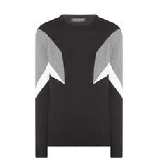 Geometric Colour-Block Sweater