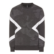 Panelled Crew Neck Sweatshirt